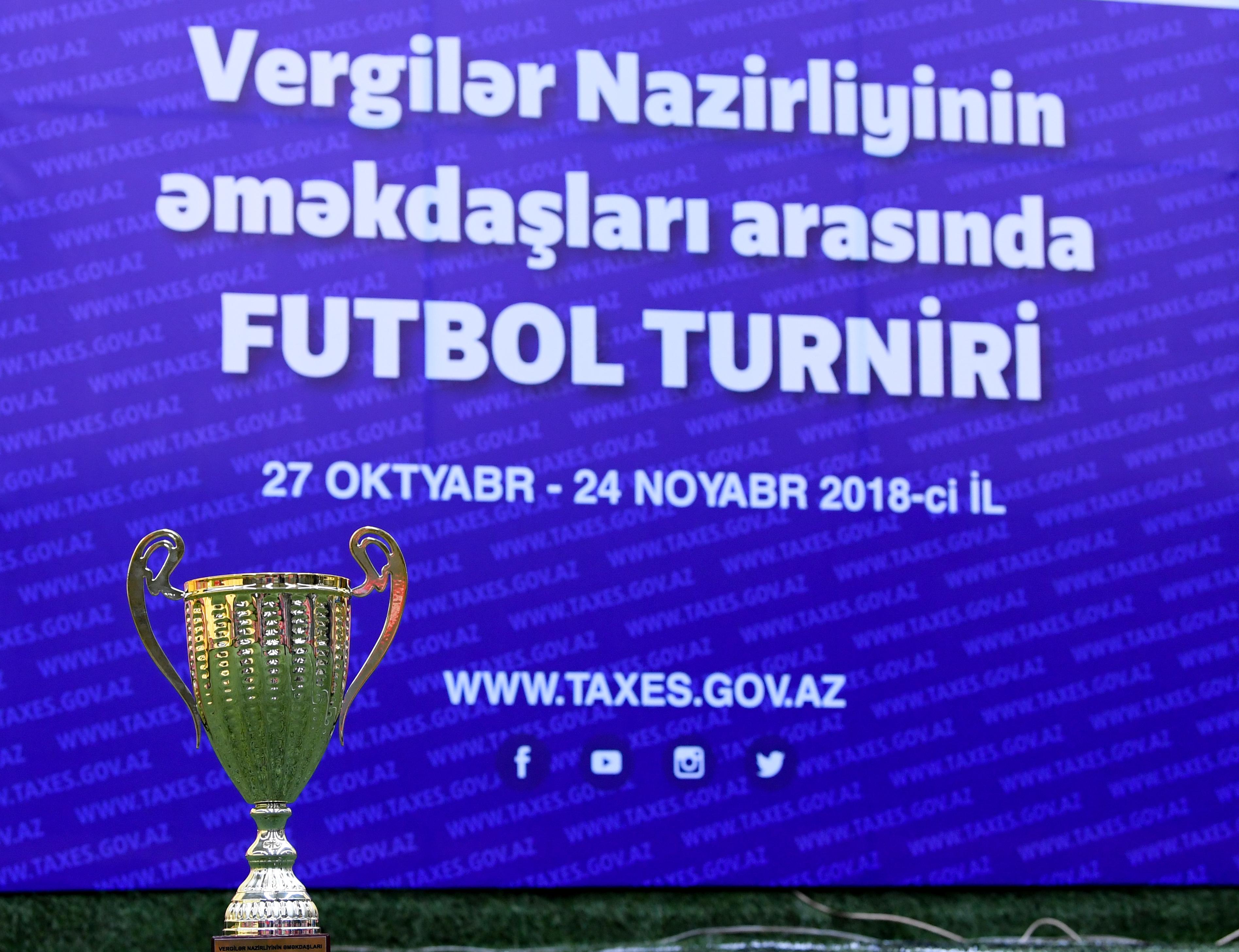 Vergi Orqani əməkdaslari Arasinda Kecirilən Futbol Turniri Basa Catib